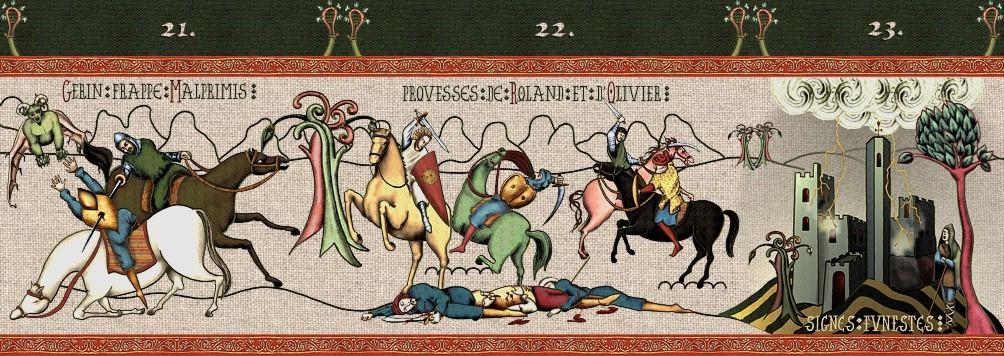 panneau 7 prouesses de roland et olivier